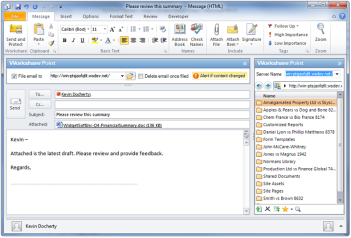 Workshare Point for Document Management in Outlook and SharePoint